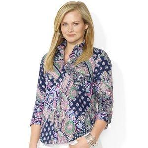 Lauren Ralph Lauren Paisley-Print Poplin Shirt